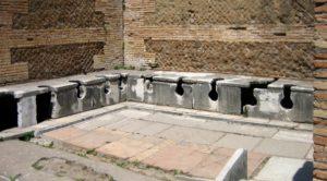 wc e bidet nell'antica Roma