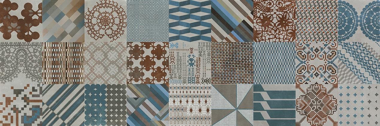 Collezione Azulej di Mutina Combinazione sui toni del bianco. Design Patricia Urquiola