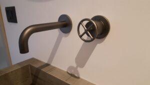 PVD Gun Metal Rubinetteria a parete Fantini serie Fontane Bianche