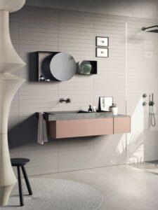 Compact Living Base con cassetto da 90 cm apertura pushpull Top in Corian