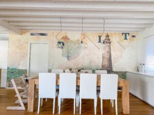 Casa nuova lineare e moderna con wallpaper Londonart Rise 16051